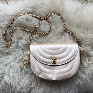 Vintage CHANEL Silk Crossbody Bag